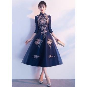 即納 お洒落な上質 韓国 ファッション パーティードレス 結婚式 二次会 ワンピース 結婚式 お呼ばれ ドレス 20代 30代 40代 結婚式 お呼ばれドレス チャイナ ロング ドレス レ