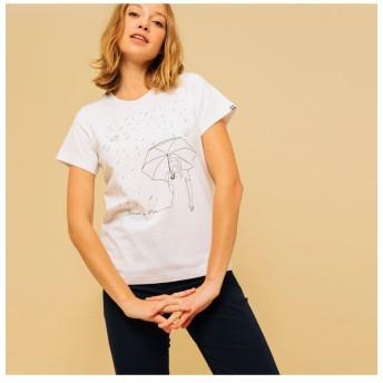 エーグル 吸水速乾 エーグル グラフィックTシャツ PLU レディース ホワイト M 【AIGLE】