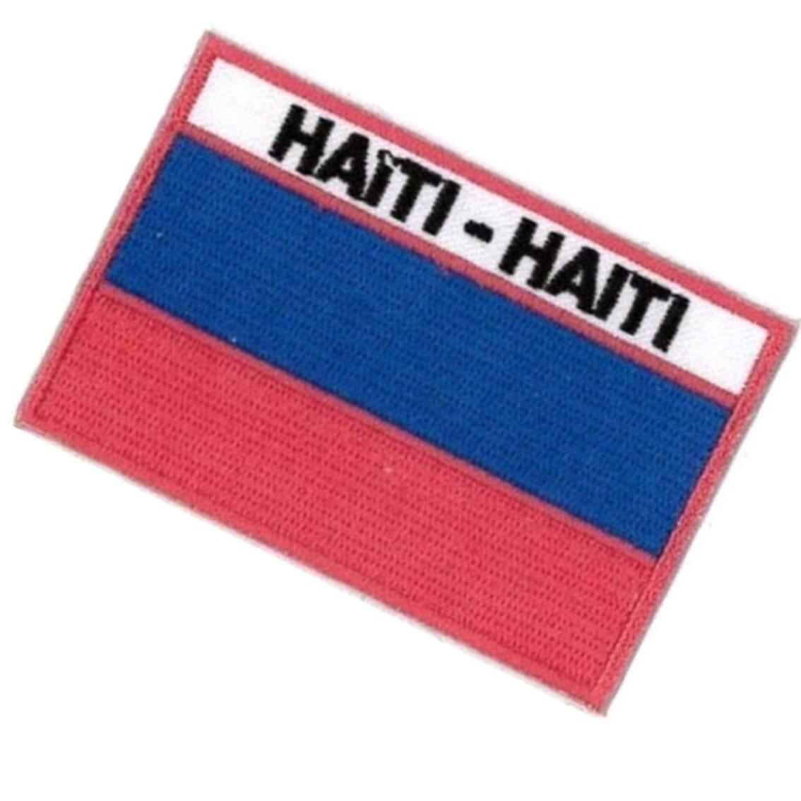 海地 Haiti 全繡 布貼片 國旗 刺繡貼 3D 肩章 布藝 貼布章 手作文創 補丁貼布 背包 布貼