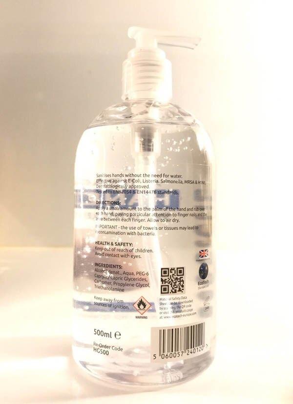 英國原裝 EcoClenz 抗菌乾洗手 商業家用量販裝 500ml 兩入組