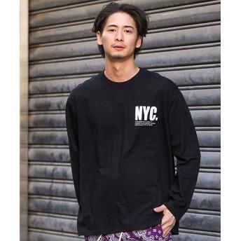 シルバーバレット CavariAバックフォトプリントクルーネック長袖Tシャツ メンズ ブラック FREE(フリーサイズ) 【SILVER BULLET】