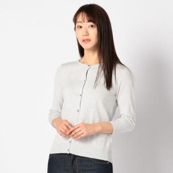 レディース 【在庫限り】婦人 オーガニックコットン7分袖カーディガン