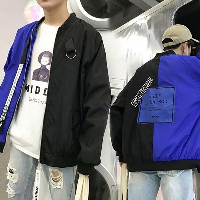 FOFU-夾克外套韓版潮流休閒帥氣修身棒球服夾克外套【08B-F0783】