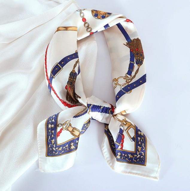 vivi時尚絲巾,春秋夏天新款百搭領巾,小方巾 032024