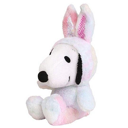 〔小禮堂〕史努比 復活節絨毛玩偶娃娃《S.白彩.兔裝》擺飾.玩具 4548643-14023
