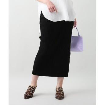 JOURNAL STANDARD L'ESSAGE SAMBAリブタイトスカート ブラック フリー