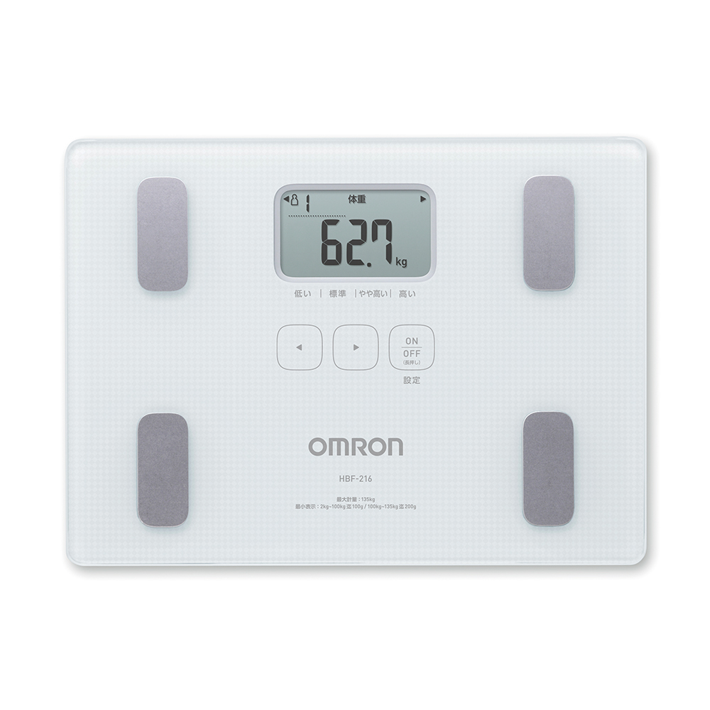 OMRON 歐姆龍 體重體脂計 HBF-216 白色