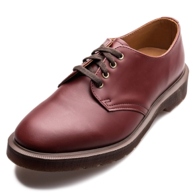 Dr.Martens-復古SMITHS4孔馬汀鞋-深紅色R16056601