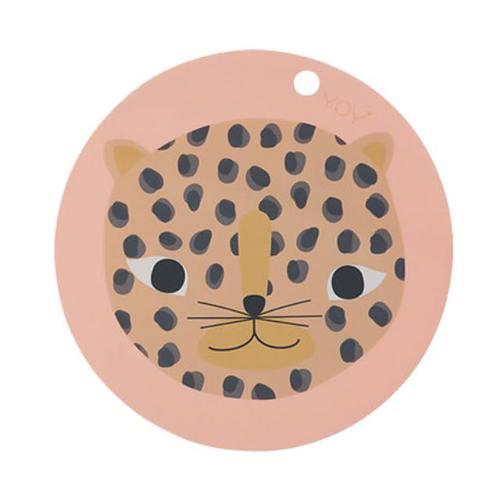【丹麥OYOY】 圓形矽膠餐墊/粉紅小豹
