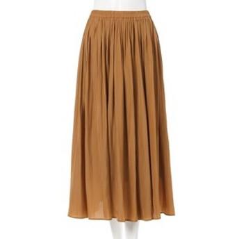 新規会員登録で3,000円OFF!【INGNI:スカート】ヴィンテージサテンギャザー スカート