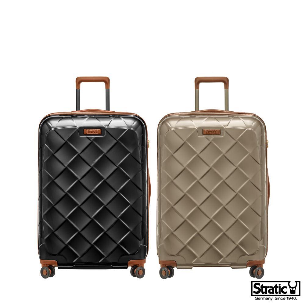 《Traveler Station》德國拜耳高品質PC Stratic 3-9894 Leather & More 29吋 拉鍊硬殼旅行箱