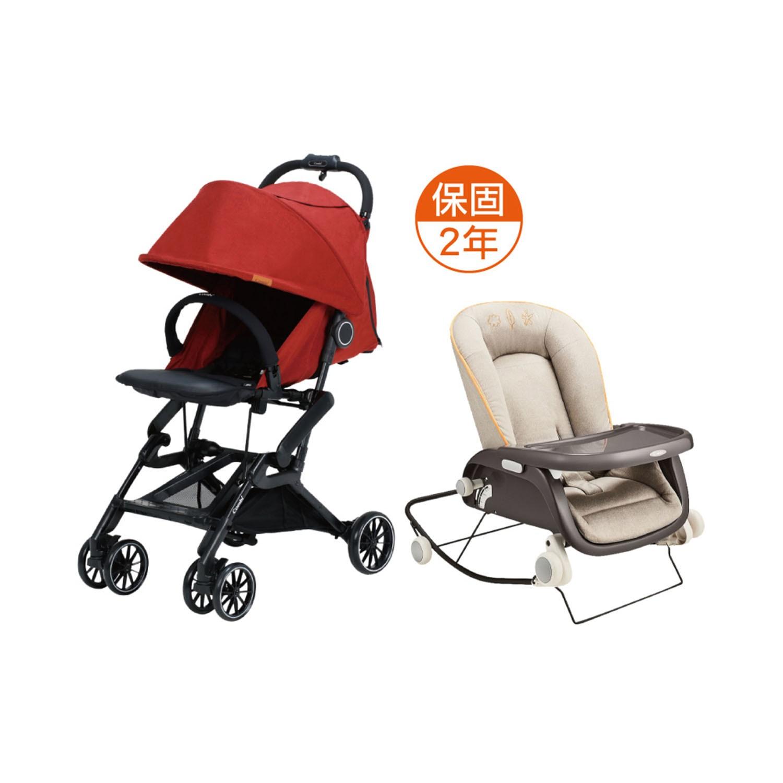 日本 Combi - 捷旅 CFS  嬰兒手推車-prumea SE-冒險紅-1個月~36個月(體重15kg以下)