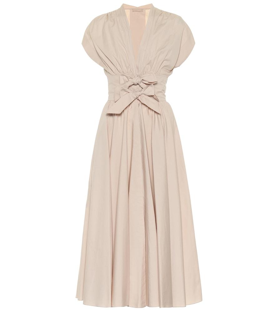 Cotton-poplin midi dress