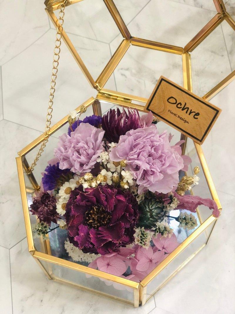 Ochre 玻璃花房系列-六角首飾盒