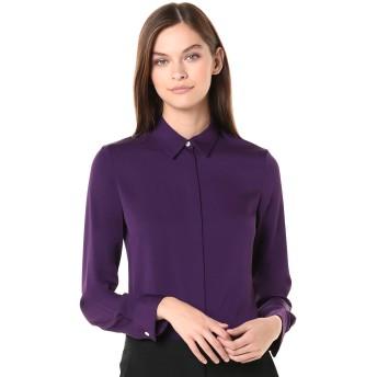Theory レディース クラシックフィットシャツ US サイズ: Petite カラー: パープル