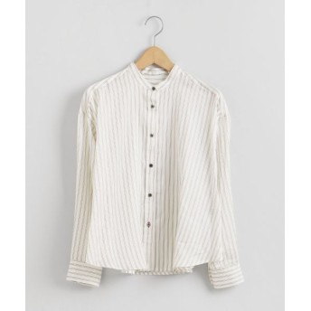 NIMES/ニーム サテンビンテージストライプバンドカラーシャツ MIX3 フリー