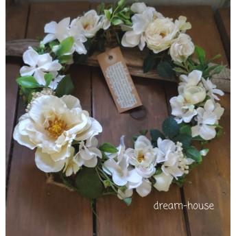 新作 Natural 薔薇ボタニカル玄関ドアリース