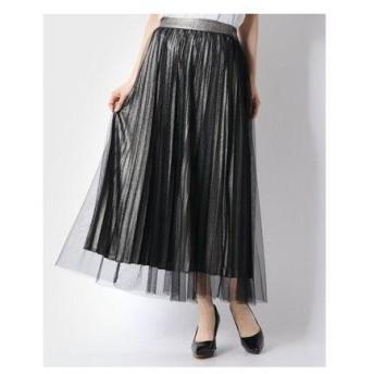 アルシーヴ archives グリッタープリーツレイヤードスカート (BLACK)