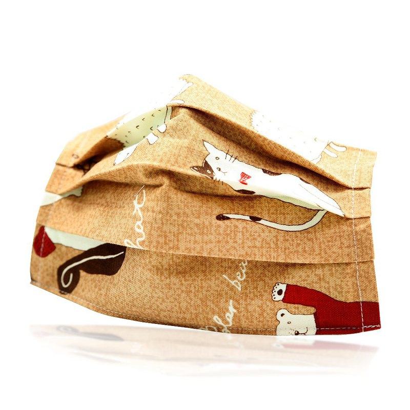 平面成人款兒童款可重複使用透氣純棉進口布口罩套(放空動物)