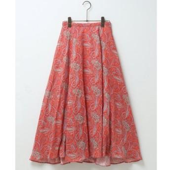 【ミューカ/MJUKA.】 リネンペイズリーパネルフレアスカート