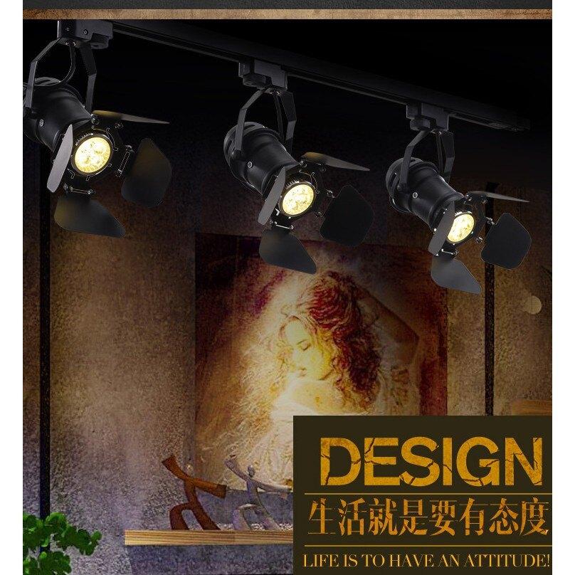 工業風LOFT復古美式攝影投射燈殼 聚光4葉片吸頂伸縮帕燈支架 店面酒吧餐廳pub居酒屋(不含光源)