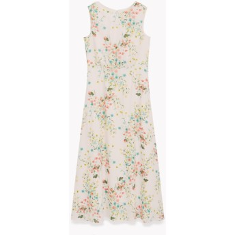 【Theory】一部店舗限定 Multi Flower Flare Midi Dress