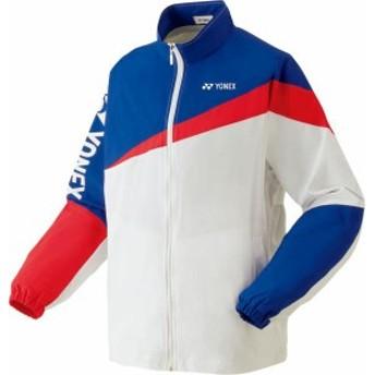 ヨネックス テニス 裏地付ウォームアップシャツジュニア 19 ホワイト トレーニングウェア(52020j-011)