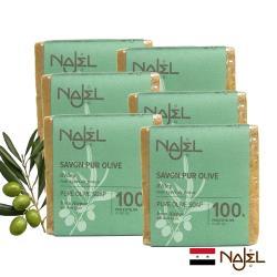 正宗NAJEL原味100%橄欖油阿勒坡皂200g六入