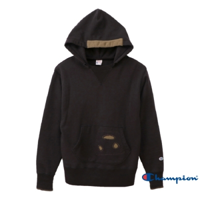 ROCHESTER貼布連帽TEE(黑色)