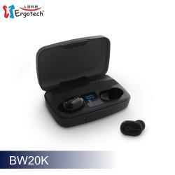 Ergotech人因科技 超輕3.8克大電量真無線藍牙耳機(曜石黑) BW20K
