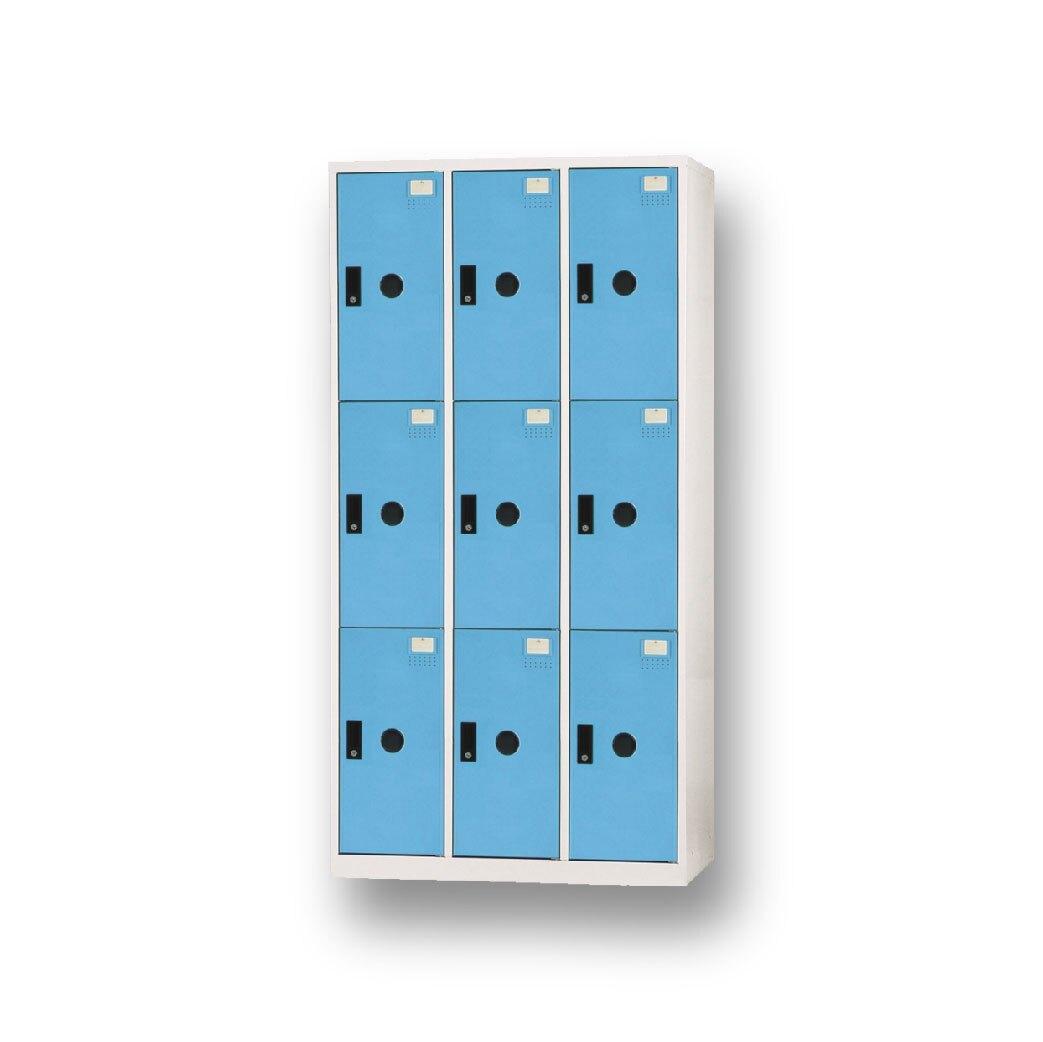 【哇哇蛙】DF-E5009FC ABS塑鋼門片淺藍色多用途置物櫃