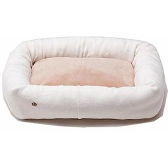 オーガニックコットン 犬 猫のベッド 綿毛布×ボア スクエアベッド S キナ (中古品)