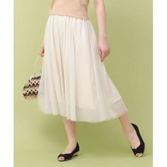 Bon mercerie/ボン メルスリー ラメチュールふんわりスカート オフホワイト(003) 38(M)