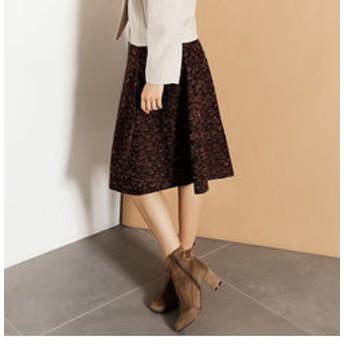【J Lounge:スカート】花柄ジャガードスカート