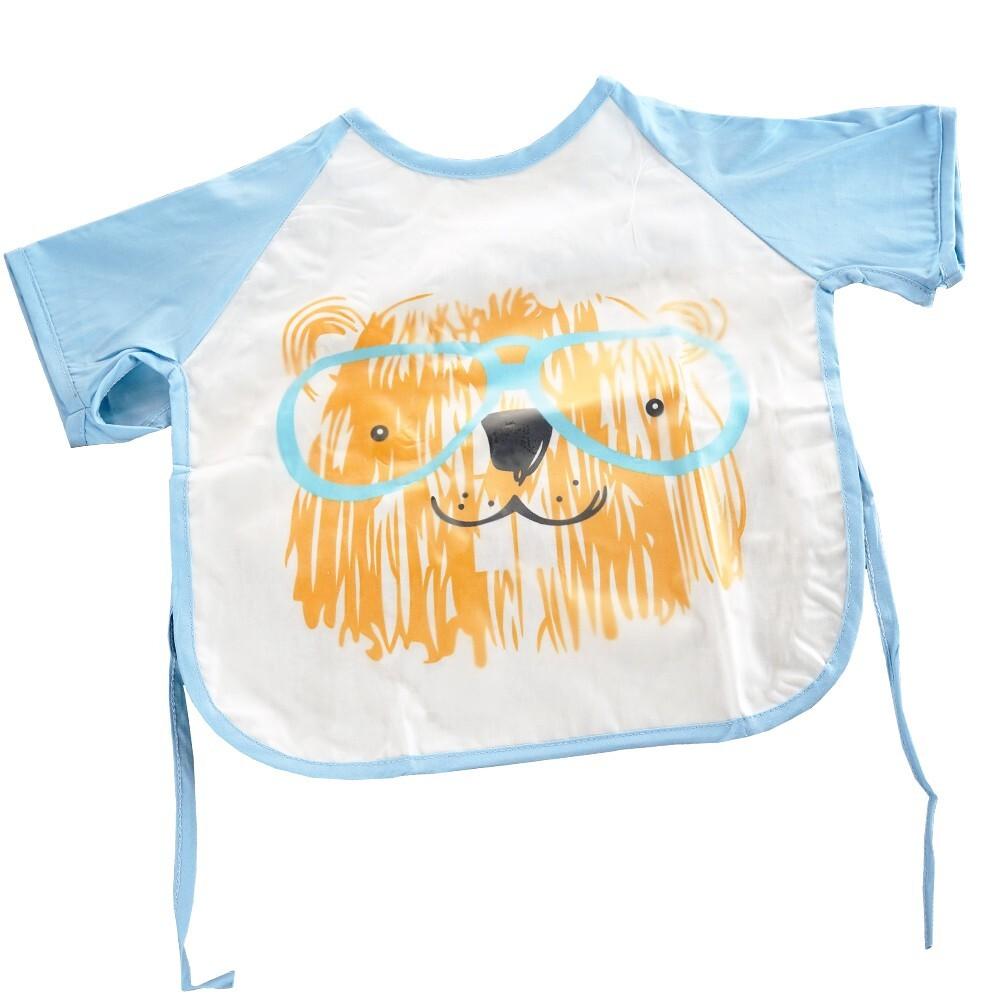 佶之屋短袖防水寶寶罩衣 圍兜
