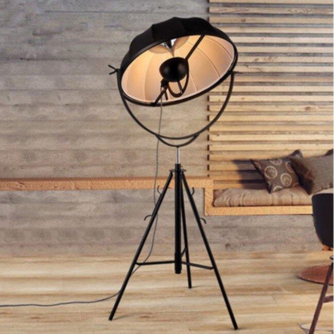 Loft復古工業風攝影棚落地燈 創意造型北歐藝術客廳臥室簡約現代創意三腳架落地燈