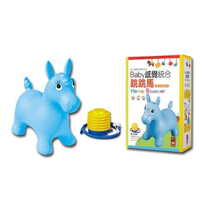 紅色小鹿/藍色小馬-Baby感覺統合跳跳馬(新版+打氣筒){童書城堡}