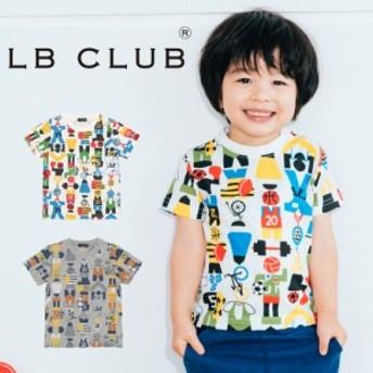【子供服】 LB CLUB (エルビークラブ) スポーツ柄Tシャツ 80cm~130cm S32859