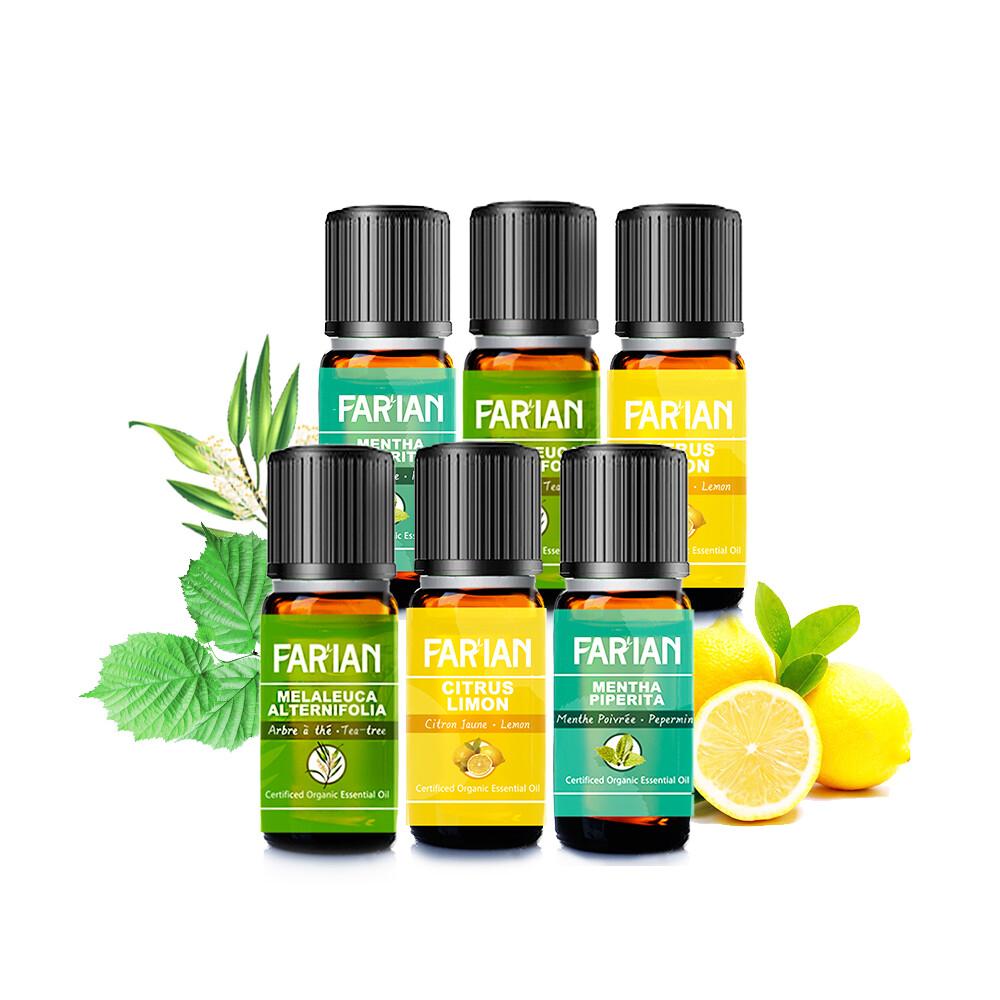 茶樹+薄荷+檸檬超值組歐洲原裝 farian精油