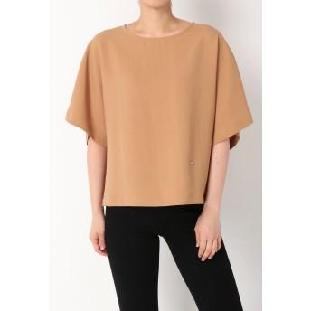 QUARée ナチュラルシンプルブラウス Tシャツ・カットソー,ライトブラウン