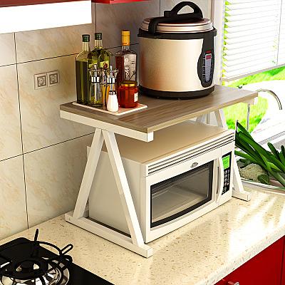 廚房收納架微波爐置物架2層調料架烤箱架落地置物架多功能儲物架 印巷家居