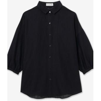 MACKINTOSH LONDON L SIZE 【L】コットンリネンピケボイルシャツ その他 カットソー,ネイビー