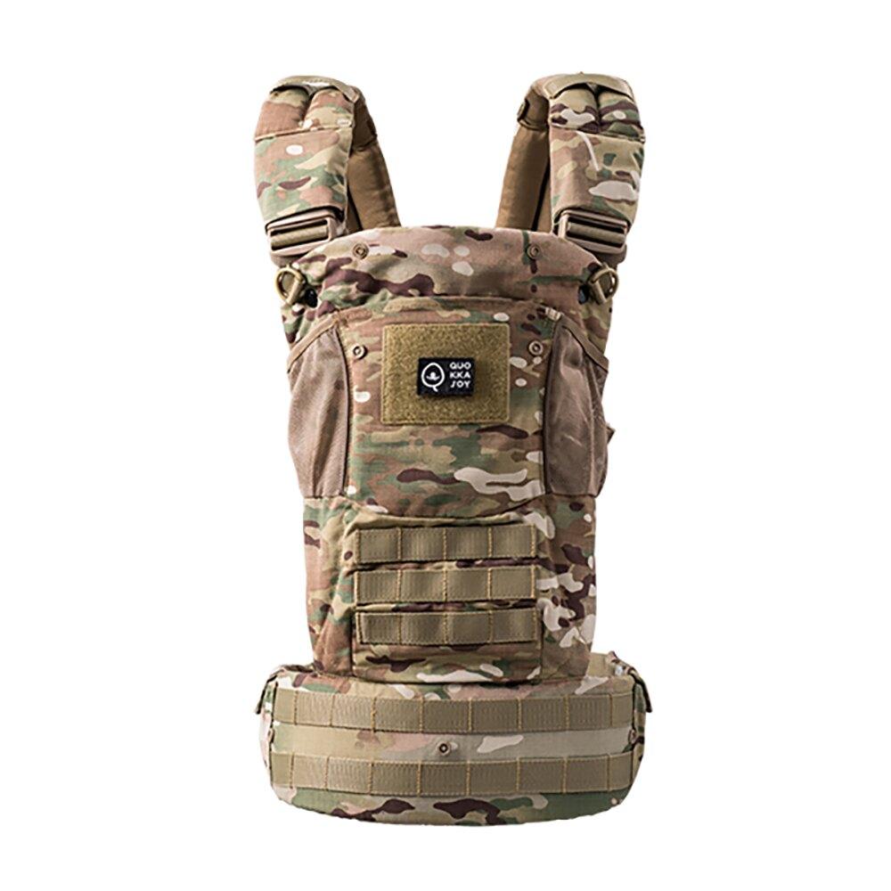 美國 QUOKKAJOY 2.0版 迷彩Multicam 減壓舒適嬰兒背巾 多功能 背帶 Baby Carrier