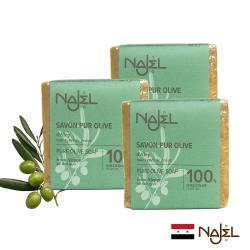 正宗NAJEL原味100%橄欖油阿勒坡皂200g三入