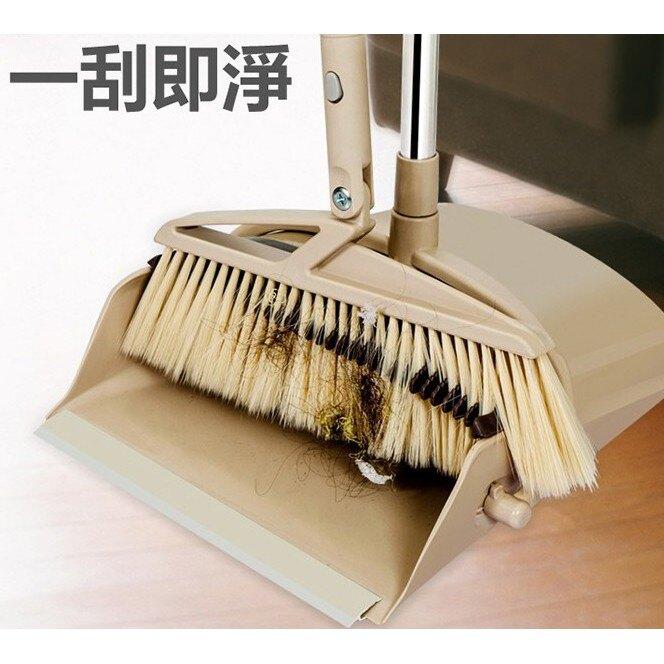 【最新掃地神器】防風型可站立刮毛髮掃把畚箕套裝組 婆婆媽媽必備的居家清潔用品
