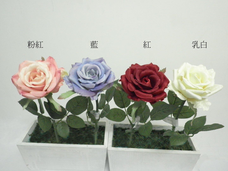 ★超低價★單支希拉蕊玫瑰-乳白 / 人造花 空間 景觀 佈置 造景