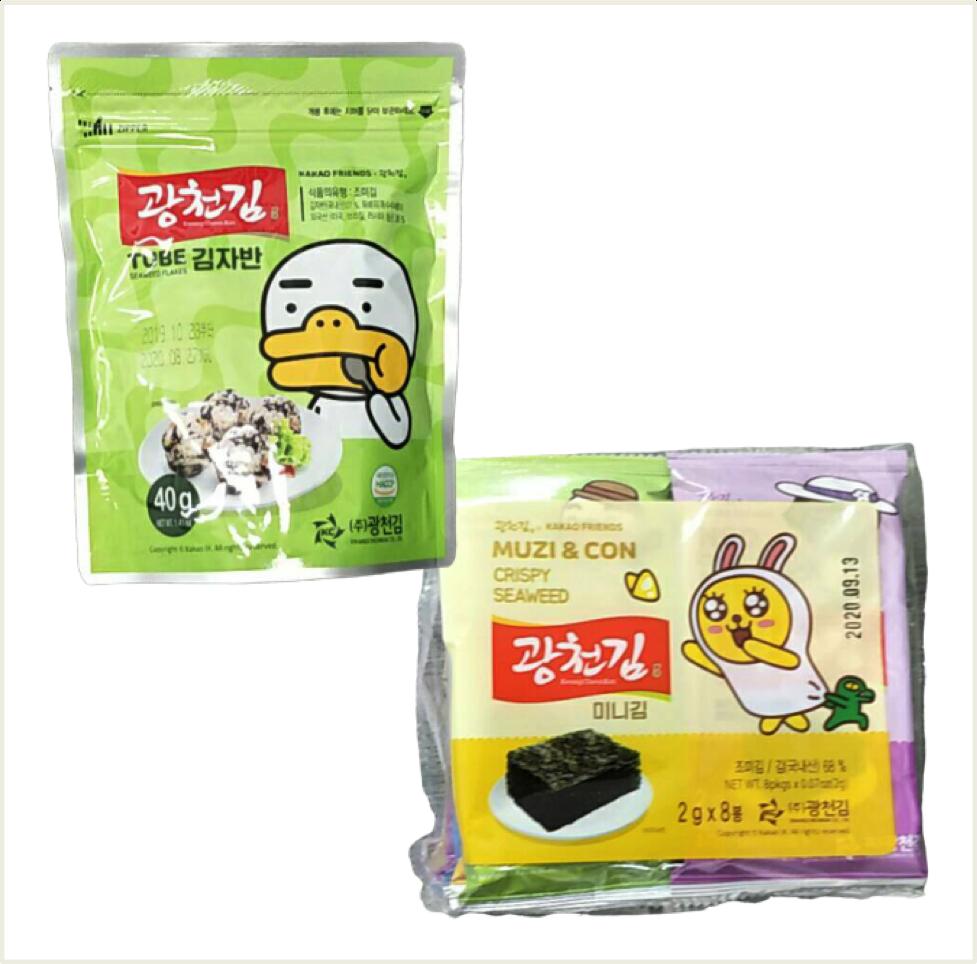 韓國 KAKAO FRIENDS 海苔酥 40g / 迷你海苔16g (8入裝*2g)