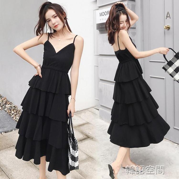 胖妹妹春夏裝新款2020韓版寬鬆顯瘦大碼仙女中長款打底減齡洋裝