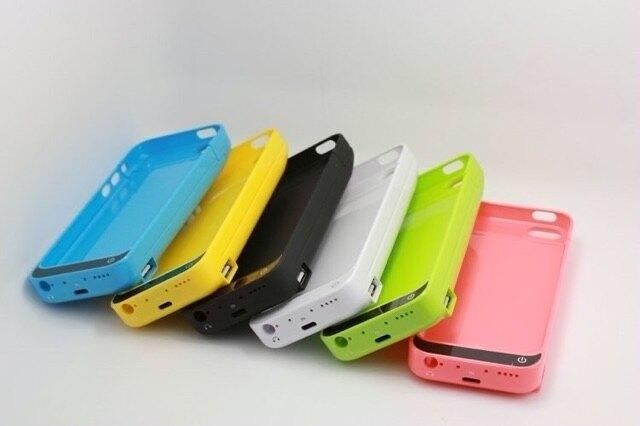 輕時尚iPhone 5/5c/5s 通用型背夾式行動電源 聚合物4200豪安 支援ios8系統
