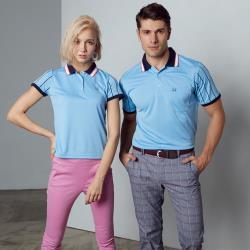 Abel Foxs Sports線條邊男版短袖polo衫-F5207A-05